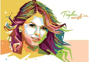 Taylor Swift Vector Retrato
