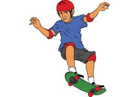Vector de patineur