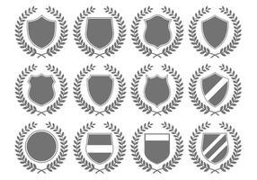 Emblemas da crista heráldica do vetor