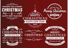 Retro-Stil Weihnachts-Insignien