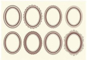 Cuadros ovales del vector