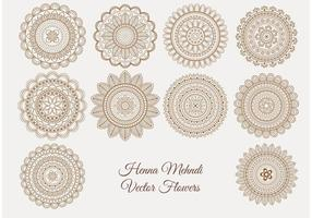 Henna Mehndi Vector Blommor