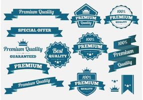 Banners e distintivos vetoriais de qualidade premium