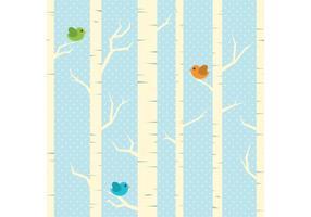 Vinter Träd Vector Bakgrund