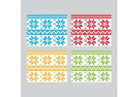 Winter Textile Vector Patronen