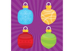 Christmas Ornament Vector Balls