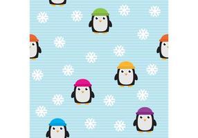 Söt pingvinvektor mönster
