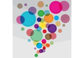 Bright Circles Vector Background