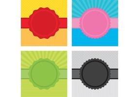 Ribbon Badge Vector Backgrounds
