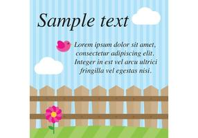 Spring Fence Vector Background