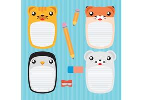 Söta djur vektor anteckningsböcker