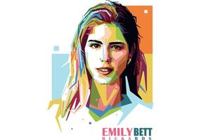 Emily Bett Rickards Vector Retrato