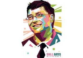 Bill Gates Vector Porträtt