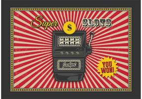 Retro Slot Machine Vector Background