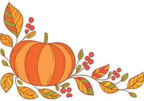 Free Thanksgiving border vector