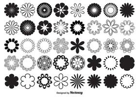 Vector formas de flores