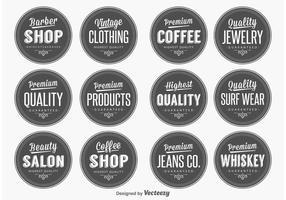 Retro kvalitets etiketter