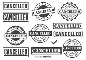 Selos de vetores cancelados
