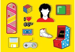 80's Icon Vector Pack