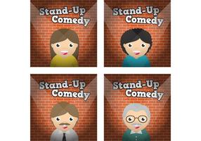 Stand up personagens vetoriais