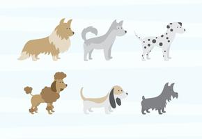 Hundar vektorer pack