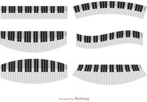Wavy Piano Vectors Pack