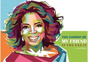 Oprah Winfrey Vektor Porträt
