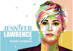 Jennifer Lawrence Vector Porträtt
