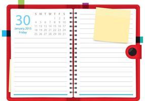 Cuaderno diario del vector del planificador