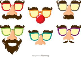 Funny Mask Costume Vectors Pack