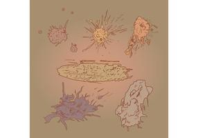 Vettori di splatter di fango