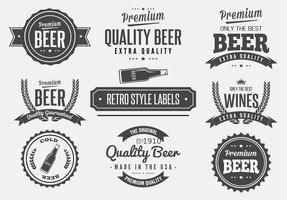 Vectores retro de la etiqueta de la cerveza