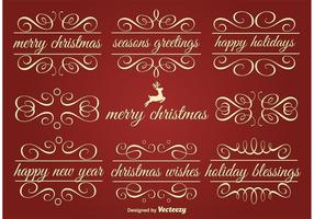 Vektor Holiday Ornament Text Ramar