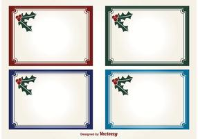 Holly Christmas Vector Labels