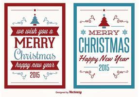 Tarjetas de felicitación de la Navidad del vector