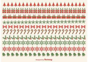 Navidad frontera vectores