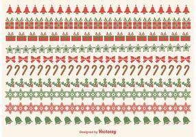 Vecteurs de bordure de Noël
