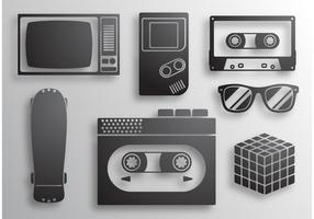 80's Icons Vectors