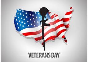 Fondo di vettore del giorno del veterano