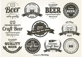 Retro Style Bier Etiketten
