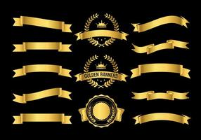 Gold Vector Banners
