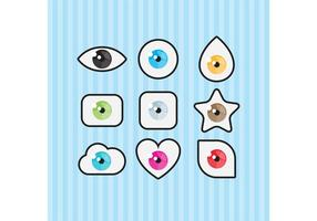 Vectores del símbolo del ojo