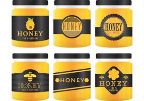 Honig Jar Vektoren und Etiketten
