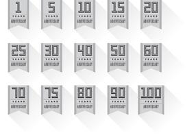Anniversary Badge Banner Vectors