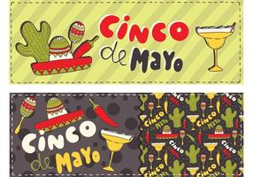 Vetores de banner gratuitos Cinco de Mayo