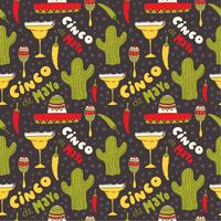 Seamless Cinco de Mayo Vector Pattern