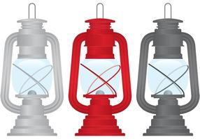 Vectores de lámparas de gas al aire libre
