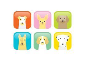 Ícones de vetor de cães
