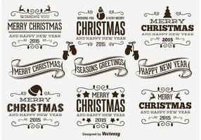 Retro Kerst Labels