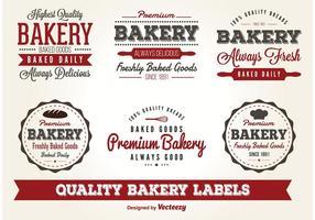 Vector Bäckerei Etiketten